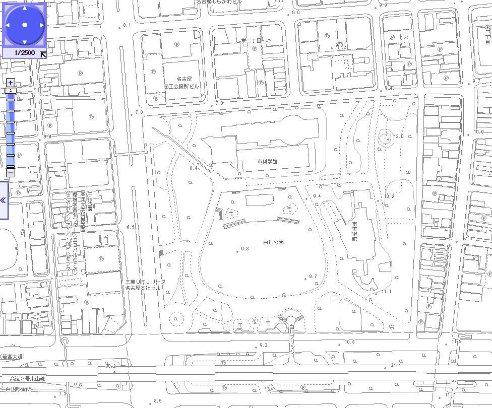 白川公園都市計画図