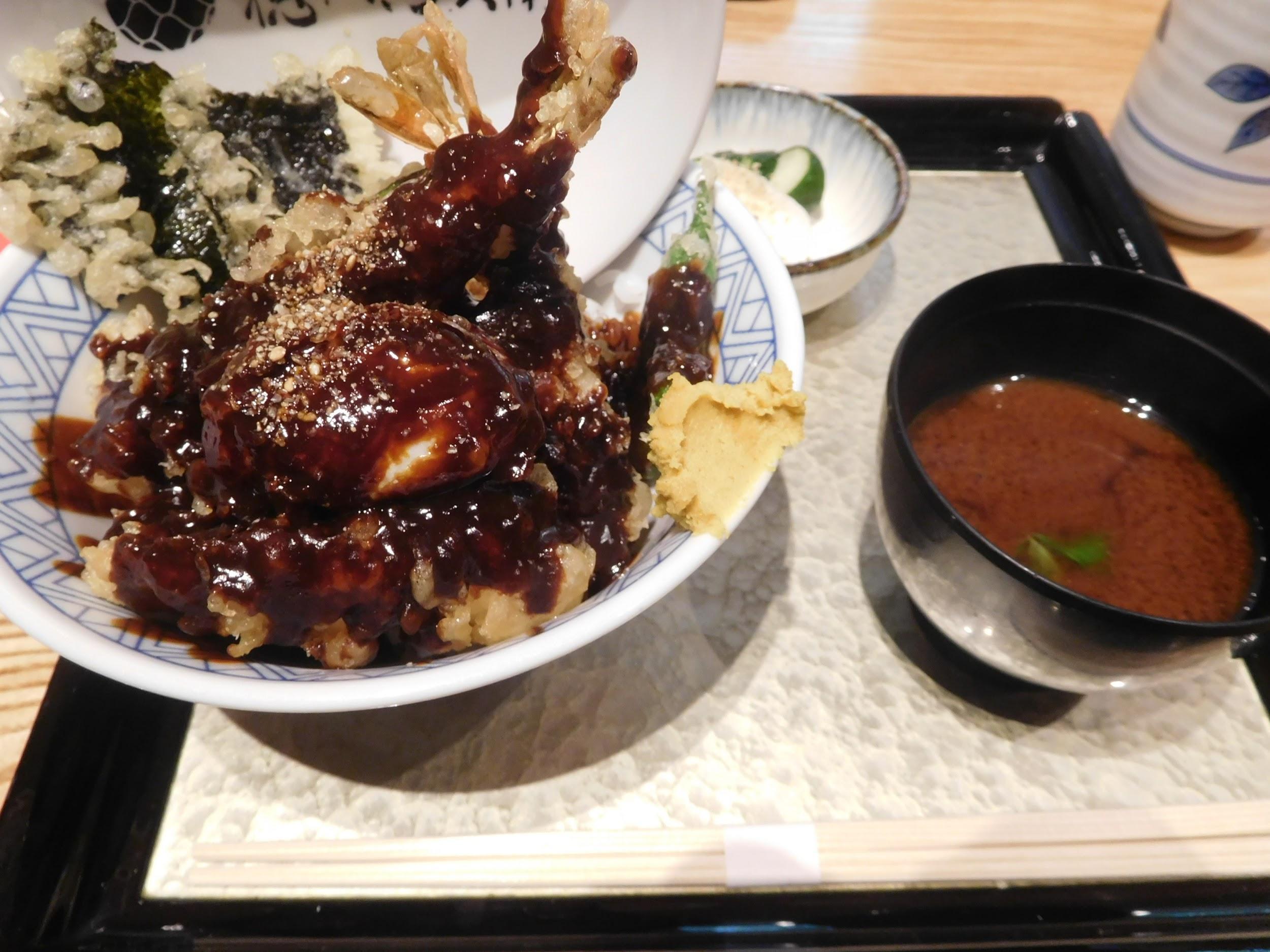 名古屋名物名古屋味噌天丼(税抜1200円)